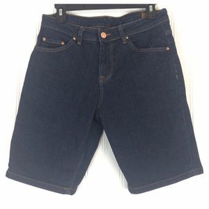 ASOS dark blue denim shorts A0103